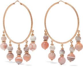 Carolina Bucci Recharmed 18-karat Rose Gold Agate Hoop Earrings
