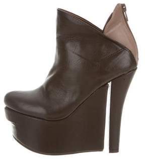 Jeffrey Campbell Leather Wedge Ankle Boots