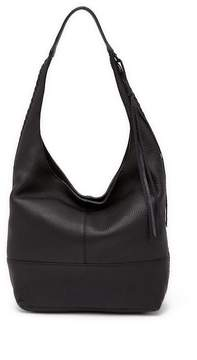 Rebecca Minkoff Unlined Slouchy Leather Hobo with Whipstitch - BLACK - STYLE