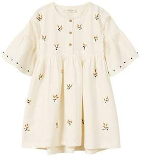 MANGO Embroidered cotton dress