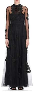 Valentino Women's Bead-Embellished Tulle Gown