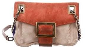 Roger Vivier Suede Chain-Link Shoulder Bag