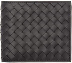 Bottega Veneta Black Intrecciato Bifold Wallet