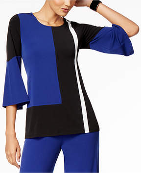 Alfani Colorblocked Bell-Sleeve Top, Created for Macy's