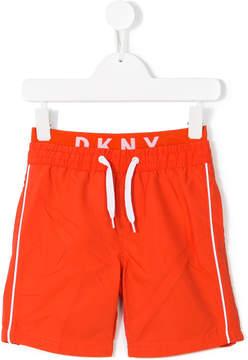 DKNY logo waistband swim shorts