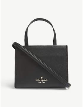 Kate Spade Black Striped Thompson Street Sam Leather Tote Bag