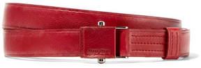 Miu Miu Textured-leather Waist Belt