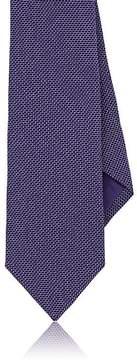 Ralph Lauren Purple Label Men's Neat-Print Mulberry Silk Crepe Necktie
