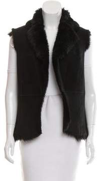 Cynthia Steffe Shearling Open Front Vest