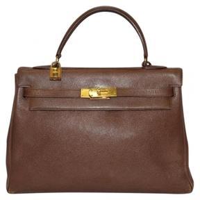 Hermes Kelly leather satchel - BROWN - STYLE