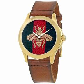 Gucci G-Timeless Red and Green Nylon Dial Men's Watch YA126451