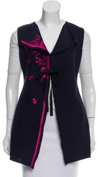 Christian Dior Embroidered Silk-Blend Vest w/ Tags