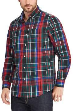 Chaps Big & Tall Classic-Fit Stretch Poplin Button-Down Shirt