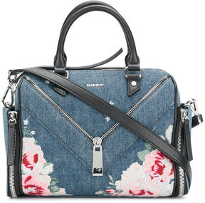 Diesel embroidered denim tote