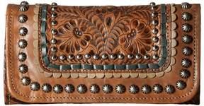 American West Blue Ridge Trifold Wallet Wallet Handbags