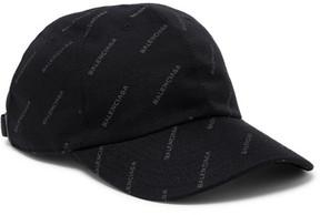 Balenciaga Printed Twill Baseball Cap