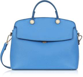 Furla Celeste Leather My Piper Small Satchel