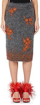 Prada Women's Embellished Mohair-Blend Pencil Skirt