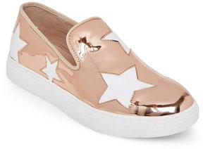 Wild Diva Rose Gold Cala Star Slip On Sneakers