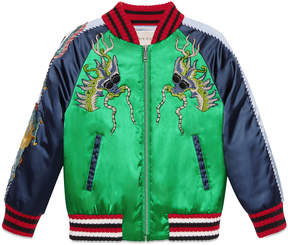 Children's bomber jacket with dragons