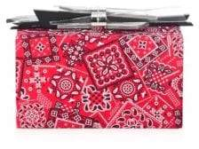 Edie Parker Wolf Paisley Clutch