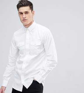 French Connection TALL Slim Fit Shirt With Double Pocket