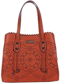 Women's Nicole Lee Tanushri Eye-Let Cut Scallop Shopper Bag