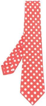 Kiton polka dot print tie