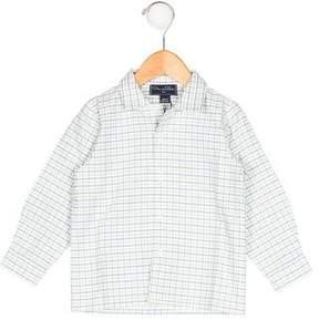 Oscar de la Renta Boys' Gingham Button-Up Shirt w/ Tags
