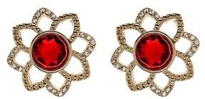 Carolee Openwork Flower Button Stud Earrings