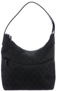 Gucci GG Denim Shoulder Bag - BLACK - STYLE