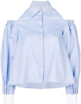 Fendi cold-shoulder cropped shirt