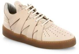 Filling Pieces Crisscross Leather Low-Top Sneakers