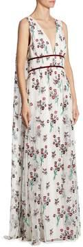 Zac Posen Women's Trudey Floral Gown