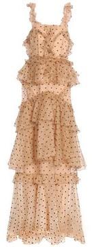Alice McCall Yoko Tiered Swiss-Dot Silk-Organza Gown