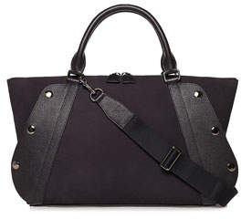 Akris Aimee Small Nubuck Leather Satchel Bag