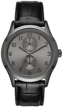 Merona Men's Strap Watch Black