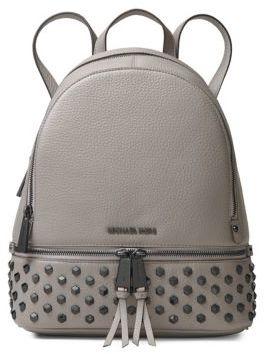 MICHAEL Michael Kors Leather Stud Backpack - BLACK - STYLE