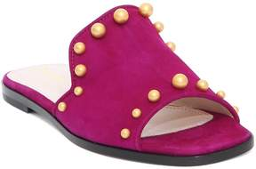 Pollini Bead Embellished Slippers