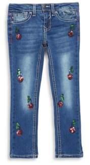 Vigoss Little Girl's Cherry Tree Jeans