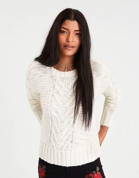 American Eagle Outfitters AE Chunky Cable Knit Sweater