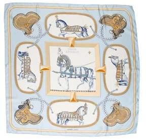 Hermes Grand Apparat Silk Scarf