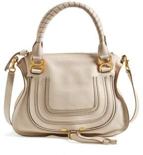 Chloe 'Medium Marcie' Leather Satchel - White
