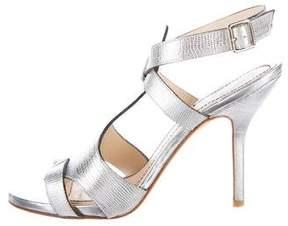Elizabeth and James Embossed Metallic Sandals