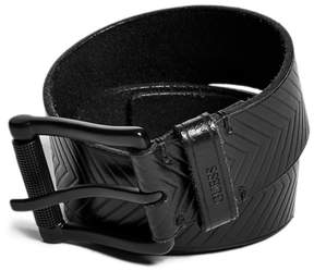 GUESS Chevron Leather Belt