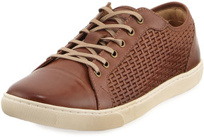 Tommy Bahama Garrett Woven Lace-Up Sneaker, Brown