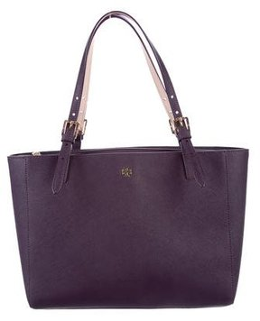 Tory Burch Leather York Tote - PURPLE - STYLE