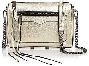 Rebecca Minkoff Avery Leather Crossbody - LIGHT GOLD/GUNMETAL - STYLE