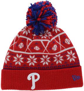New Era Philadelphia Phillies Sweater Chill Pom Knit Hat