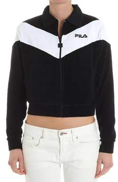 Fila Women's White/black Cotton Sweatshirt.